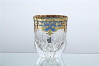 Набор стаканов для виски Astra Gold Natalia Golden Blue Decor 350мл(6 шт)