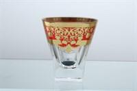Набор стаканов для виски Astra Gold Natalia Golden Red Decor 200мл(6 шт)