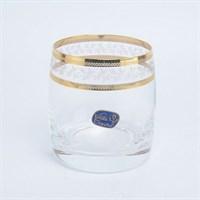 Набор стаканов для виски Crystalex Bohemia Золотой Лист V-D 290 мл(6 шт)