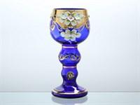 Ваза Bohemia лепка синяя E-S 10*23*8,5 см. 650 гр