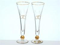 """Свадебный набор из 2-х бокалов для шампанского""""E-S"""""""