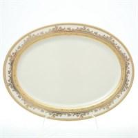 Блюдо овальное Falkenporzellan Cream Gold 35 см