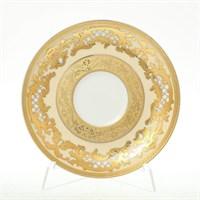 Набор блюдец Falkenporzellan Alena 3D Creme Gold 15 см(6 шт)