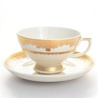 Набор чайных пар Falkenporzellan Cream Gold 220мл(6 пар)