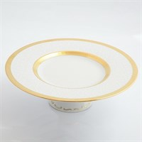Тарелка для торта на ножке Falkenporzellan Constanza Diamond White Gold 32см