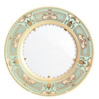 Блюдо круглое Falkenporzellan Donna Seladon gold 32 см