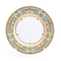 Набор тарелок Falkenporzellan Donna Seladon gold 17см(6 шт)