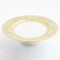 Тарелка для торта на ножке Falkenporzellan Donna Seladon gold 32см
