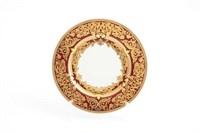 Набор тарелок Falkenporzellan Natalia bordeaux gold 17 см(6 шт)