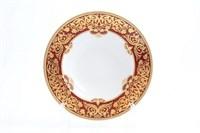 Набор тарелок глубоких Falkenporzellan Natalia bordeaux gold 23,5 см(6 шт)