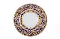 Блюдо круглое Falkenporzellan Natalia cobalt gold 32 см
