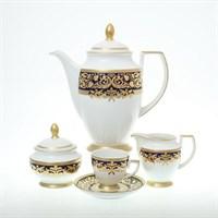 Кофейный сервиз Falkenporzellan Natalia cobalt gold на 6 персон 17 предметов