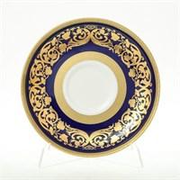 Набор блюдец Falkenporzellan Natalia cobalt gold (6 пар)