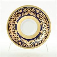 Набор блюдец мокко Falkenporzellan Natalia cobalt gold (6 шт)