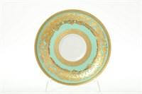Набор блюдец Falkenporzellan Natalia gr seladon  gold 15 см(6 шт)