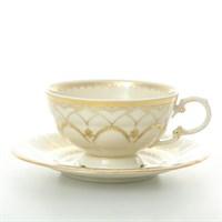 Набор чашка с блюдцем 2 предмета 2517  Leander Антония Золотой узор слоновая кость 220 мл