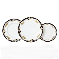 Набор тарелок Leander Соната Золотая роза кобальт 18 предметов