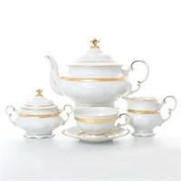 Чайный сервиз Leander Соната Золотая лента 6 персон 17 предметов