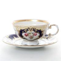 Набор чайных пар Leander Соната Мелкие цветы кобальт 200мл(6 пар)