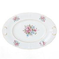 Блюдо овальное Leander Соната розовые цветы 32 см
