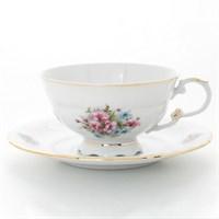 Набор чайных пар Leander Соната Розовые цветы 200 мл (6 пар)