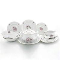 Столовый сервиз Leander Соната Розовые цветы 6 персон 25 предметов