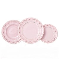 Набор тарелок Leander Соната Мелкие цветы Розовый фарфор 18 предметов