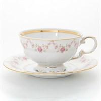 Набор чайных пар Leander Соната мелкие цветы 200 мл(6 пар)