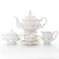Чайный сервиз Leander Соната мелкие цветы  6 персон 17 предметов