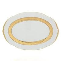 Блюдо овальное Sterne porcelan Матовая лента 33 см