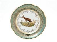 Набор тарелок Sterne porcelan Охота Зеленая 17 см(6 шт)