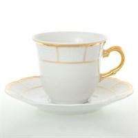 Набор чайных пар Thun Менуэт обводка золото 165  мл(6 пар)