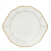 Тарелка для торта Thun Менуэт обводка золото 27 см