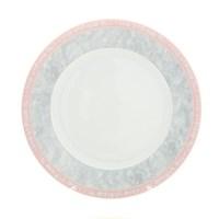 Блюдо круглое Thun Яна Серый мрамор с розовым кантом 30 см
