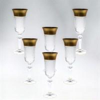 Набор фужеров для шампанского Bohemia Матовая полоса хрусталь 150 мл(6 шт)
