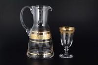 Набор для воды Bohemia Идеал и Клаудия Золото 7 предметов (Графин 1,8л Стаканы 250мл)