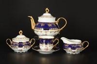 Чайный сервиз на 6 персон 17 предметов Констанция Кобольт Полевой цветок