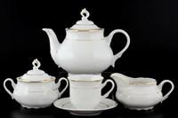 Чайный сервиз Thun Констанция отводка золото 6 персон 17 предметов