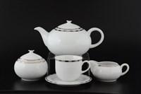 Чайный сервиз на 6 персон 17 предметов Опал Платиновые пластинки