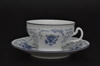Набор чайных пар Bernadotte Синие розы 220 мл(6 пар)