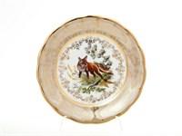 Набор тарелок Sterne porcelan Охота Бежевая 19 см(6 шт)