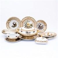 Столовый сервиз на 6 персон 27 предметов Охота Бежевая Sterne porcelan