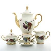 Кофейный сервиз Sterne porcelan Слоновая кость 6 персон 17 предметов