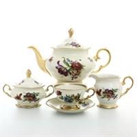 Чайный сервиз Sterne porcelan Слоновая кость 6 персон 17 предметов