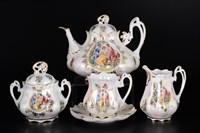 Чайный сервиз на 6 персон Queen's Crown Мадонна перламутр 15 предметов