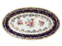 Блюдо овальное Thun Констанция Кобольт Полевой цветок 21см