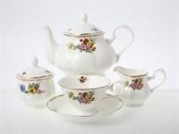 Чайный сервиз Мейсенский букет на 6 персон 15 предметов