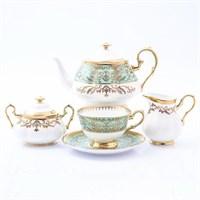 Чайный сервиз Prouna Clarice Light Green 6 персон 17 предметов