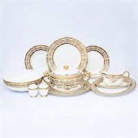 Столовый сервиз Prouna Golden Romance Cream Gold 6 персон 27 предметов