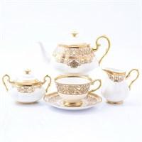 Чайный сервиз Prouna Golden Romance Cream Gold 6 персон 17 предметов